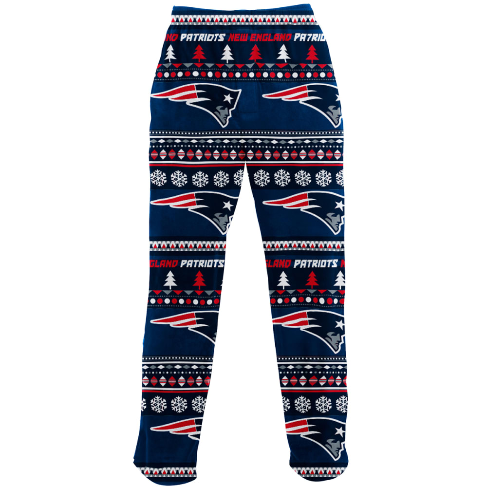 New England Patriots Men's Ugly Holiday Printed Fleece Pants - Blue, L