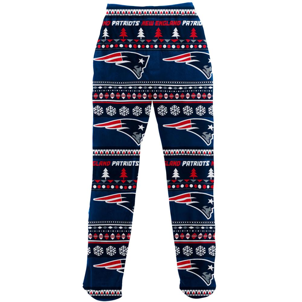 NEW ENGLAND PATRIOTS Men's Ugly Holiday Printed Fleece Pants - HOLIDAY