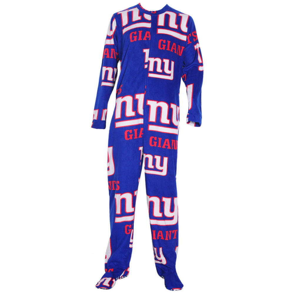 NEW YORK GIANTS Men's Ramble Printed Fleece Union Suit - ROYAL BLUE