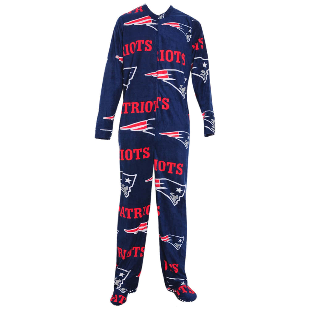 New England Patriots Men's Printed Fleece Union Suit - Blue, M