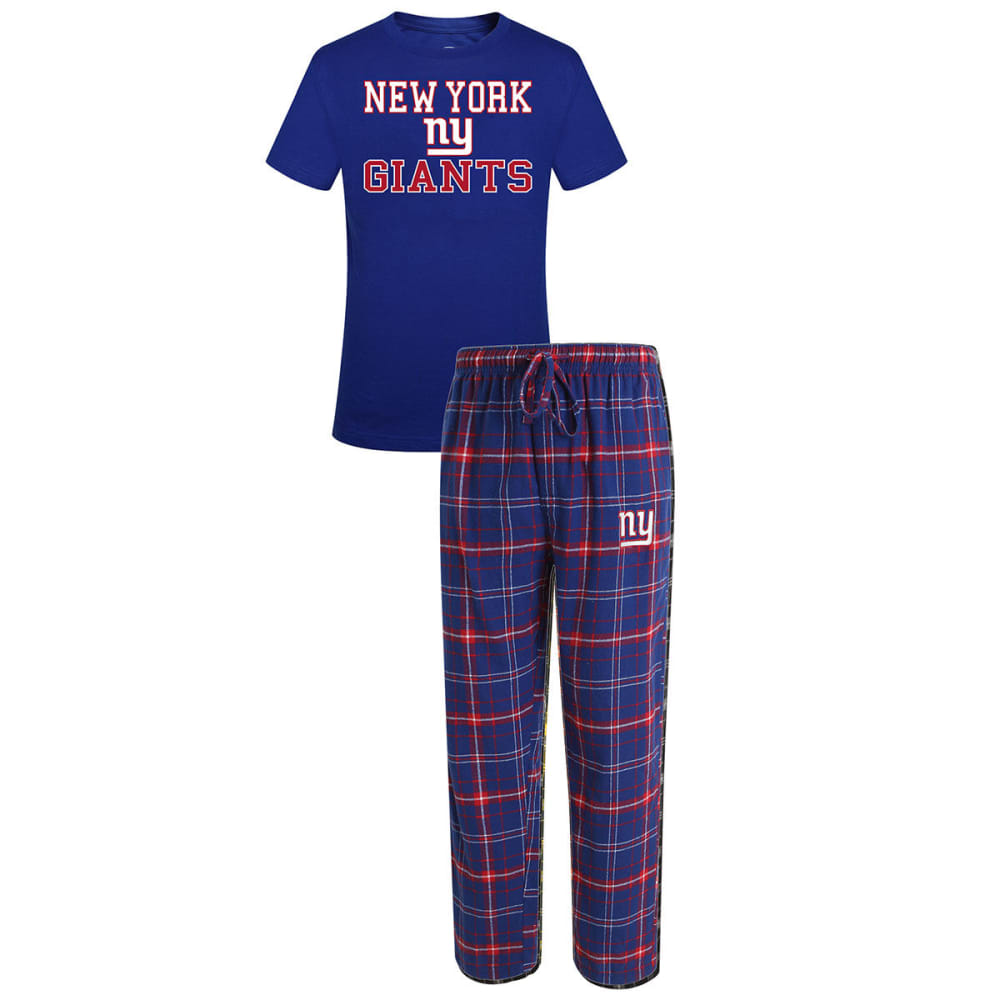 NEW YORK GIANTS Men's Halftime Sleep Set - ROYAL BLUE