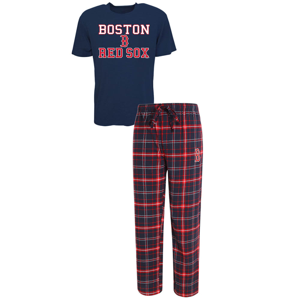 BOSTON RED SOX Men's Halftime Sleep Set - NAVY/RED