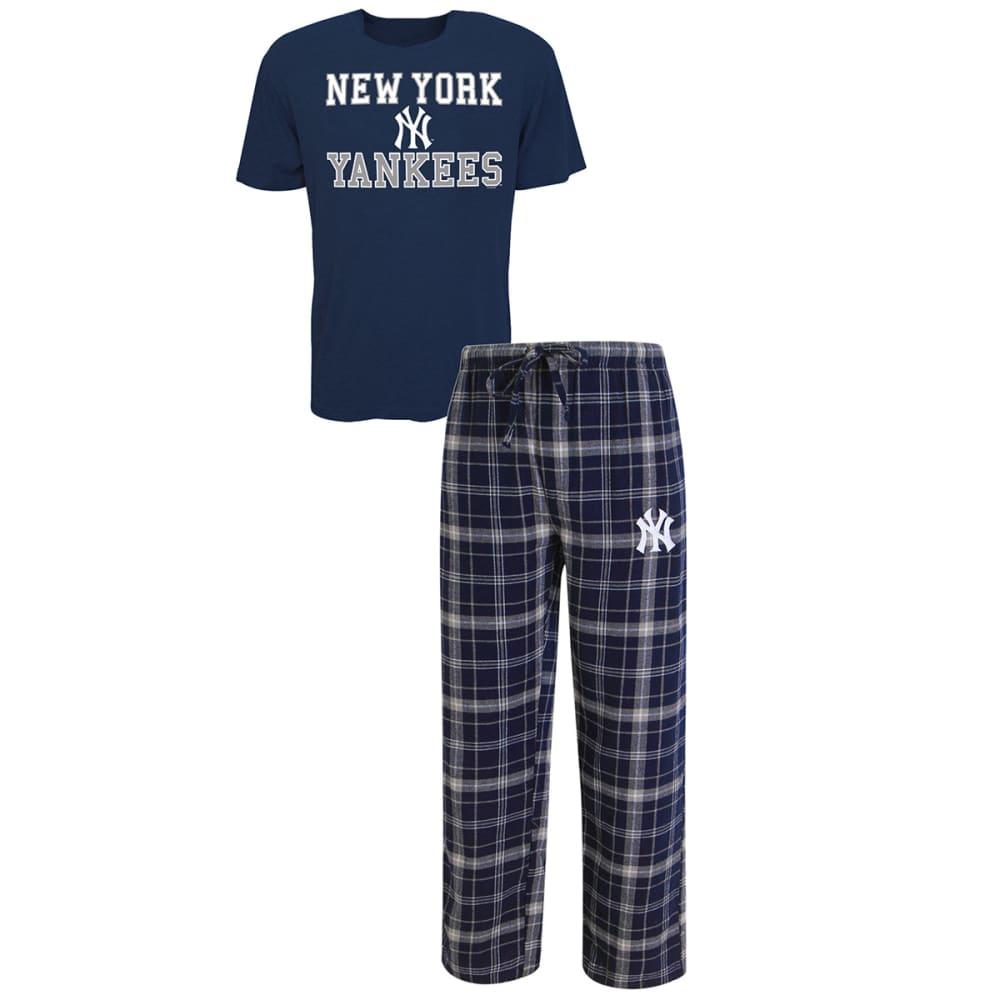 NEW YORK YANKEES Men's Halftime Sleep Set - NAVY/GREY