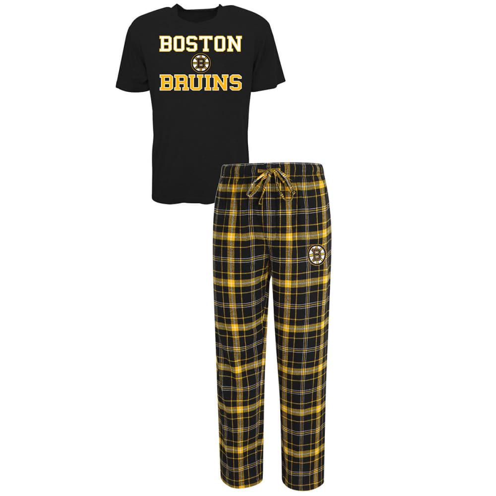BOSTON BRUINS Men's Halftime Sleep Set - BLACK/GOLD