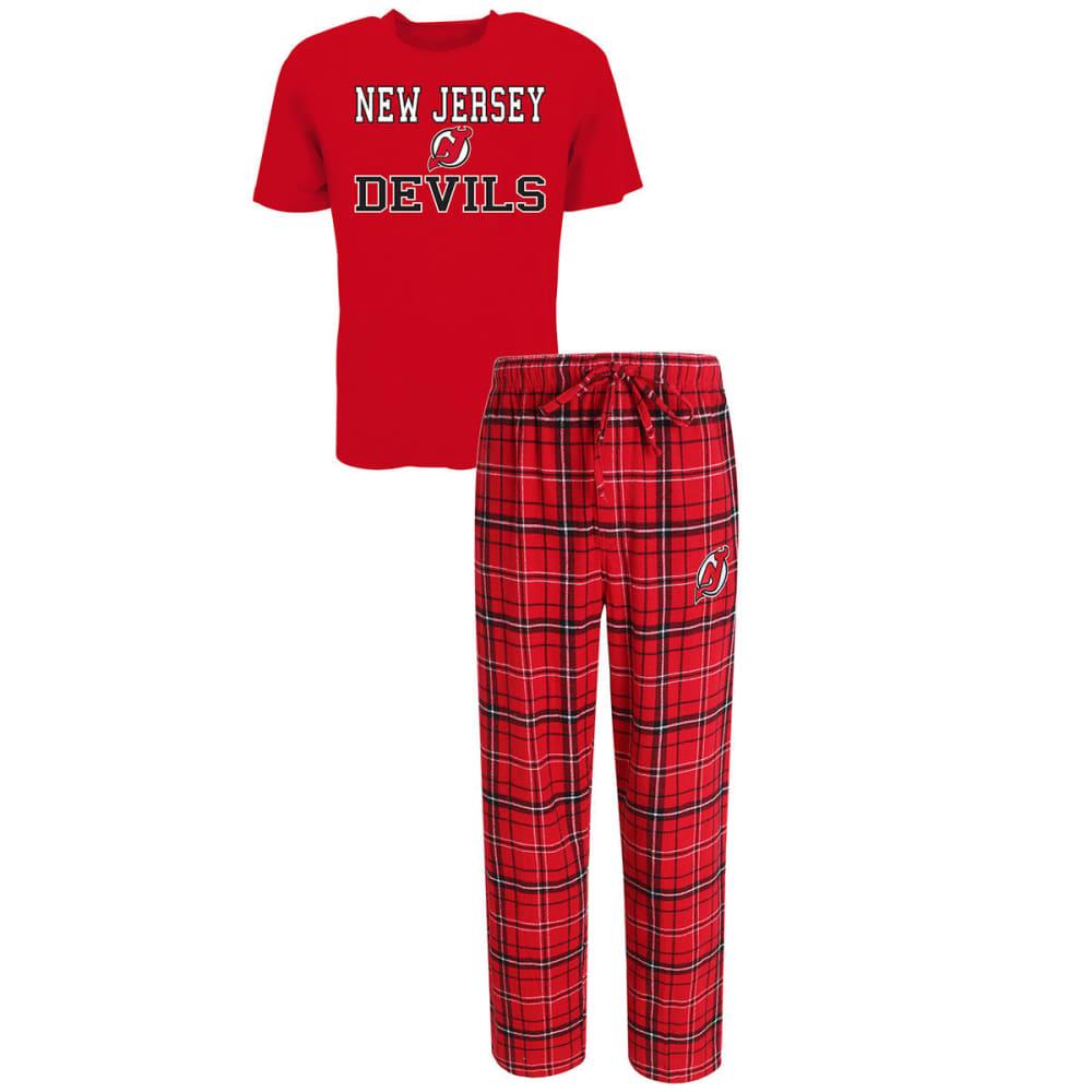 NEW JERSEY DEVILS Men's Halftime Sleep Set - RED/BLACK