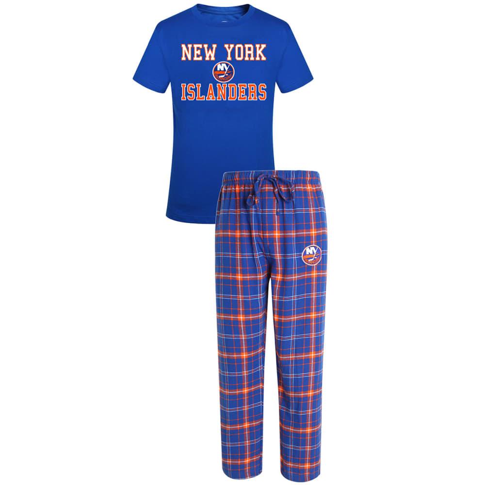 NEW YORK ISLANDERS Men's Halftime Sleep Set - ROYAL/ORANGE
