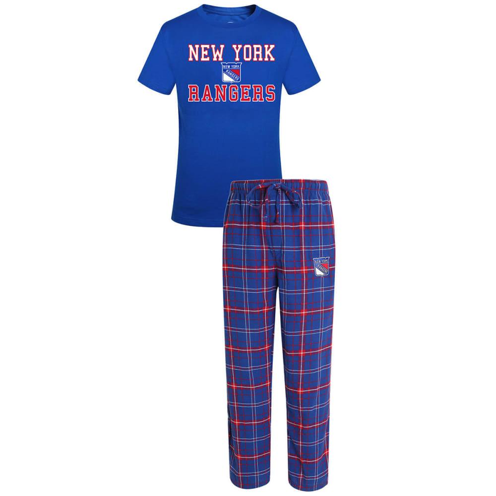 NEW YORK RANGERS Men's Halftime Sleep Set - ROYAL/RED