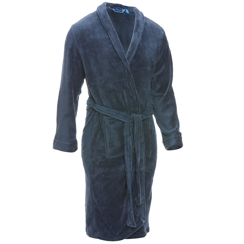 NORTHPOINT TRADING Men's Plush Solid Robe - ASST