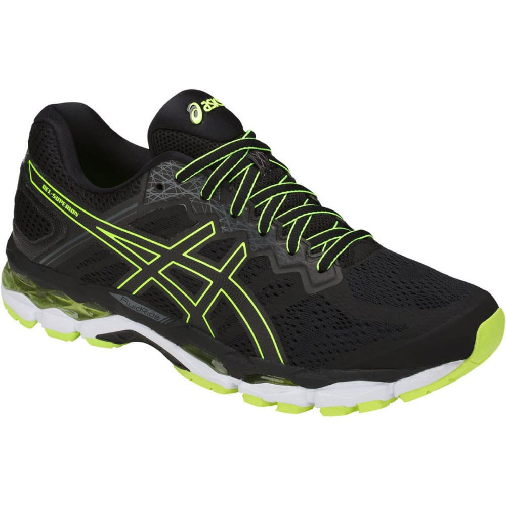 Asics Men's Gel-Superion Running Shoes - Black, 8