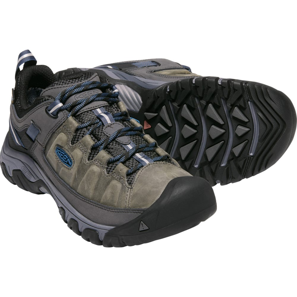 KEEN Men's Targhee III Waterproof Low Hiking Shoes - STEEL GREY