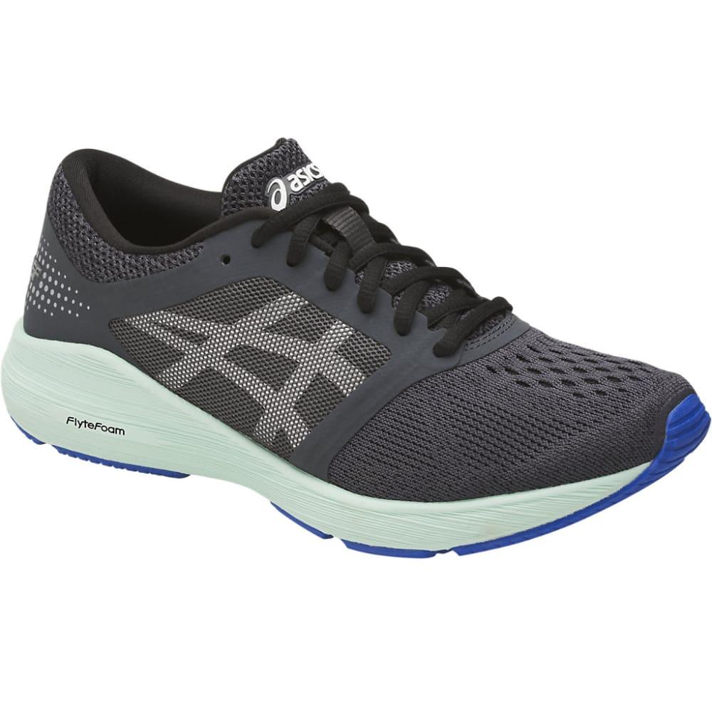 ASICS Women's Roadhawk FF Running Shoes, Dark Grey/Silver/Glacier Sea - DARK GREY