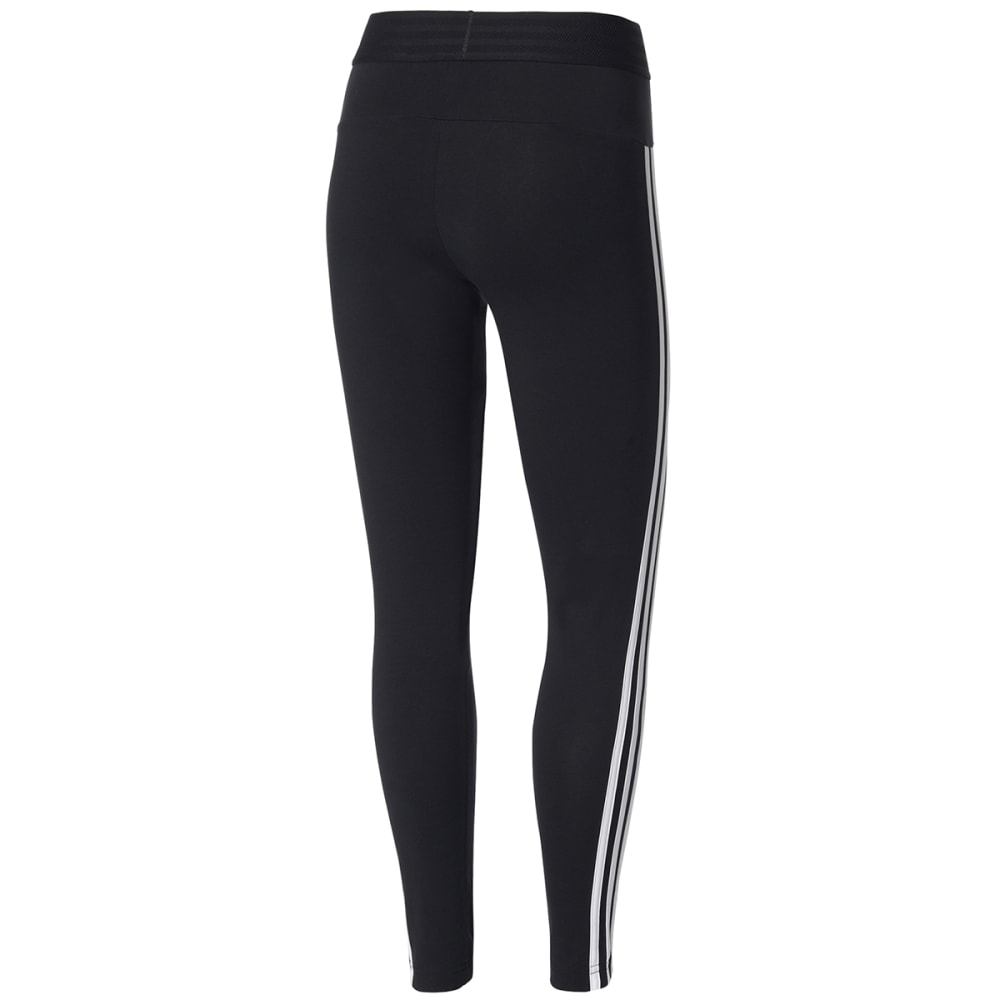 ADIDAS Women's Essentials 3-Stripes Tights - BLACK/WHT-BS4820