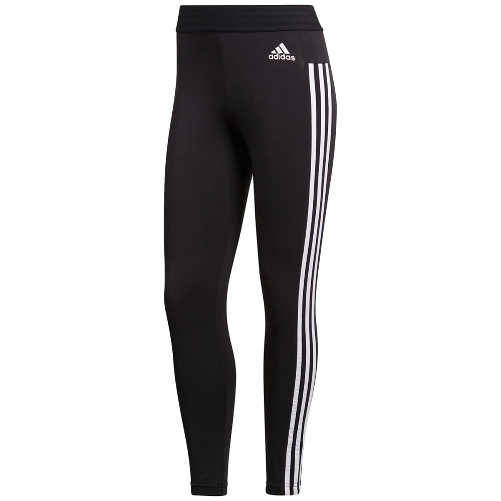 Adidas Women's Essentials 3-Stripes Tights - Black, S