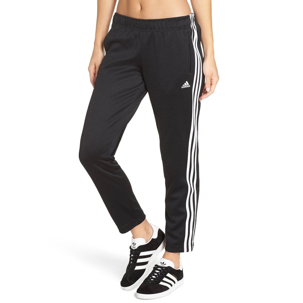 ADIDAS Women's Tricot Snap Active Pants - BLK/WHT-CZ2163