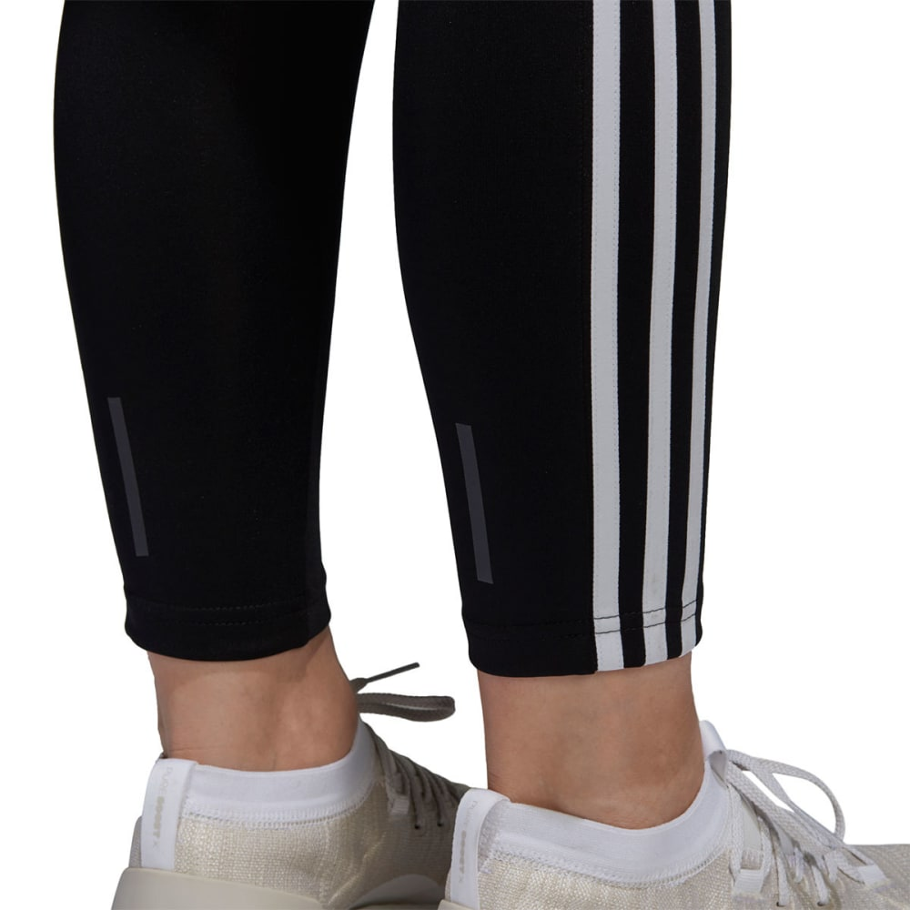 ADIDAS Women's Designed 2 Move 3-Stripes Full-Length Tights - BLK/WHT-CE2036