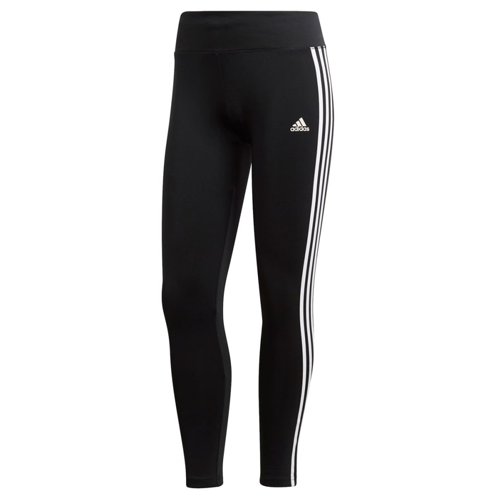 Adidas Women's Designed 2 Move 3-Stripes Full-Length Tights - Black, S