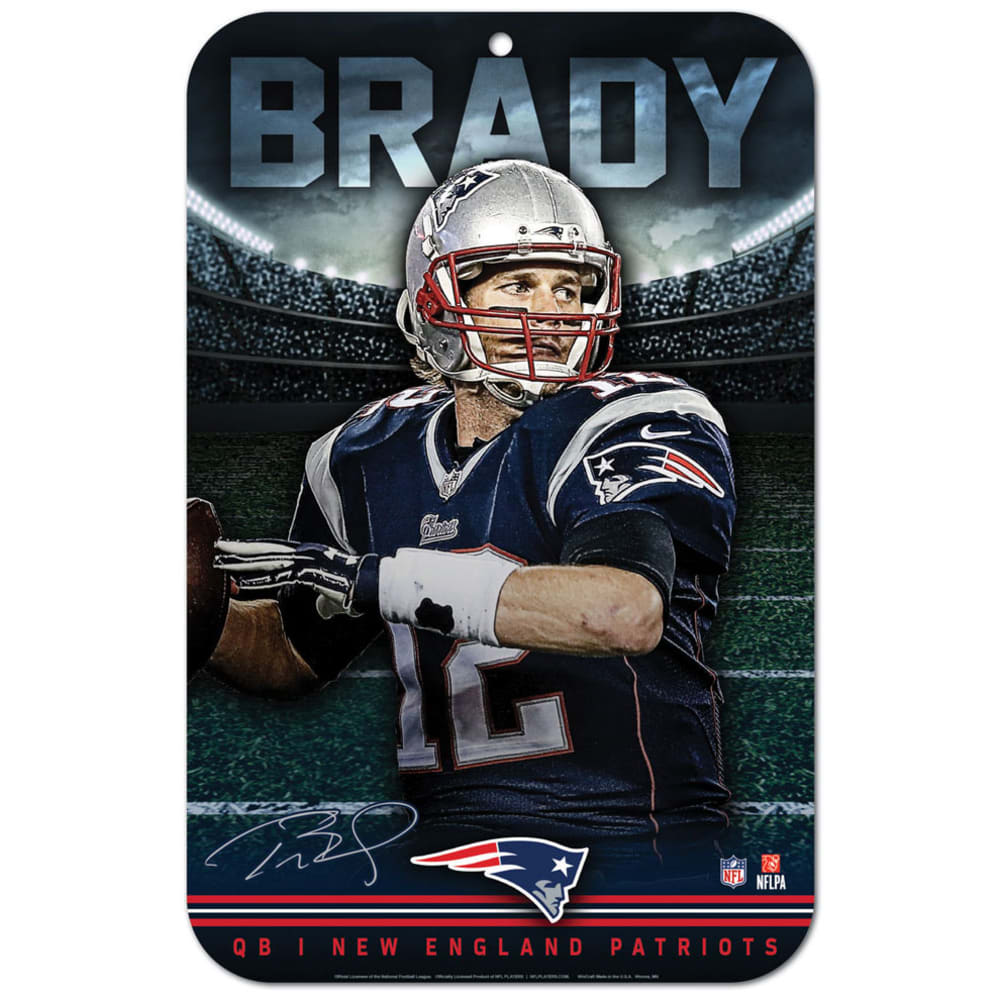 NEW ENGLAND PATRIOTS 11 x 17 in. Brady Plastic Sign - NAVY