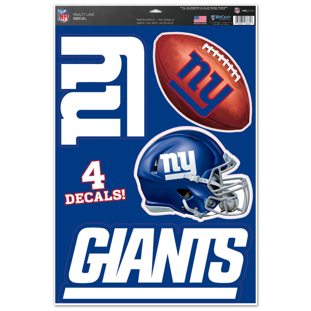 NEW YORK GIANTS Multi-Use Decals, 4 Pack - ROYAL BLUE