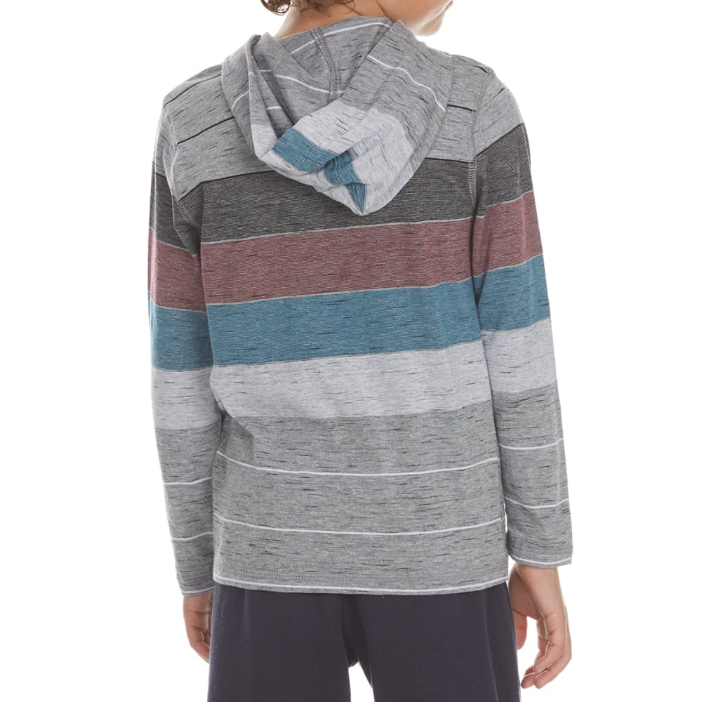 OCEAN CURRENT Boys' Keel Stripe Long-Sleeve Popover - MOUSE GRY