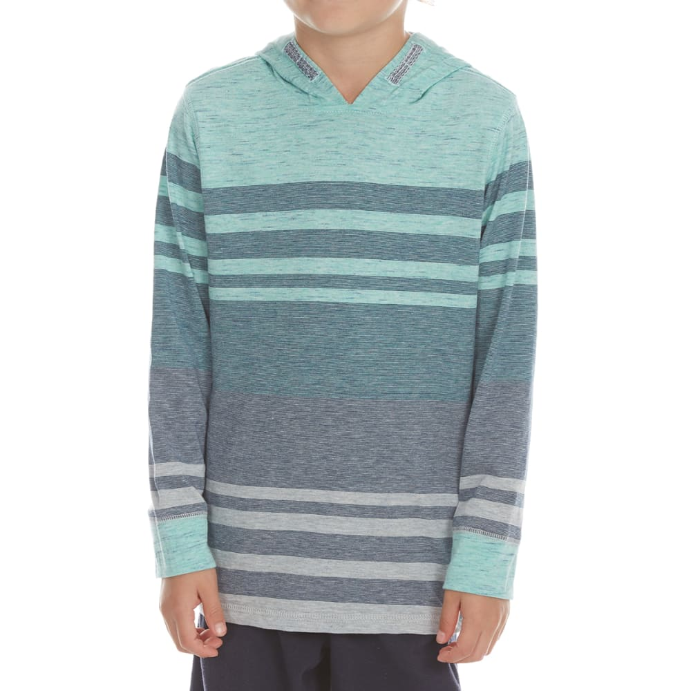 OCEAN CURRENT Boys' Leonaldo Striped Long-Sleeve Popover - AQUA
