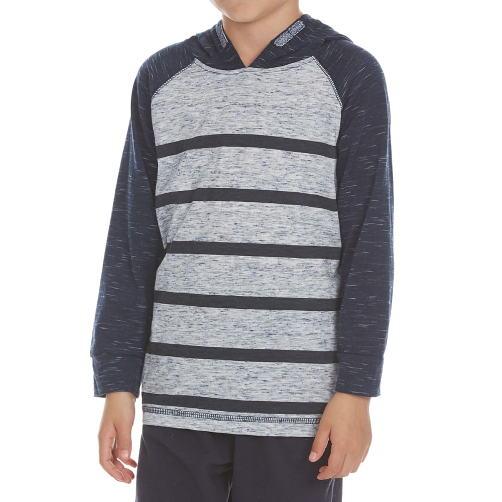 OCEAN CURRENT Boys' Cabera Striped Long-Sleeve Popover - INDIGO/GRY