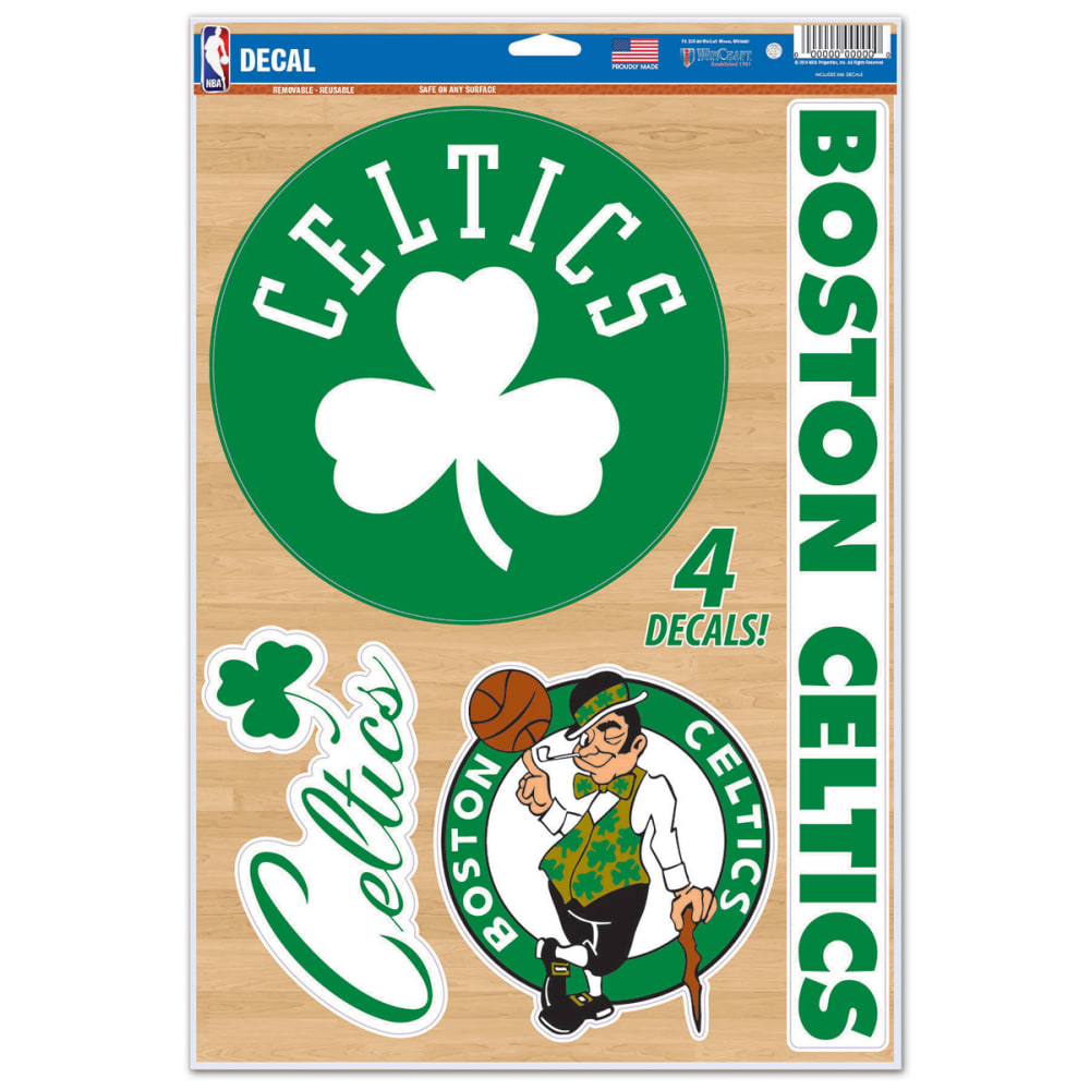 BOSTON CELTICS Multi-Use Decals, 4 Pack - GREEN