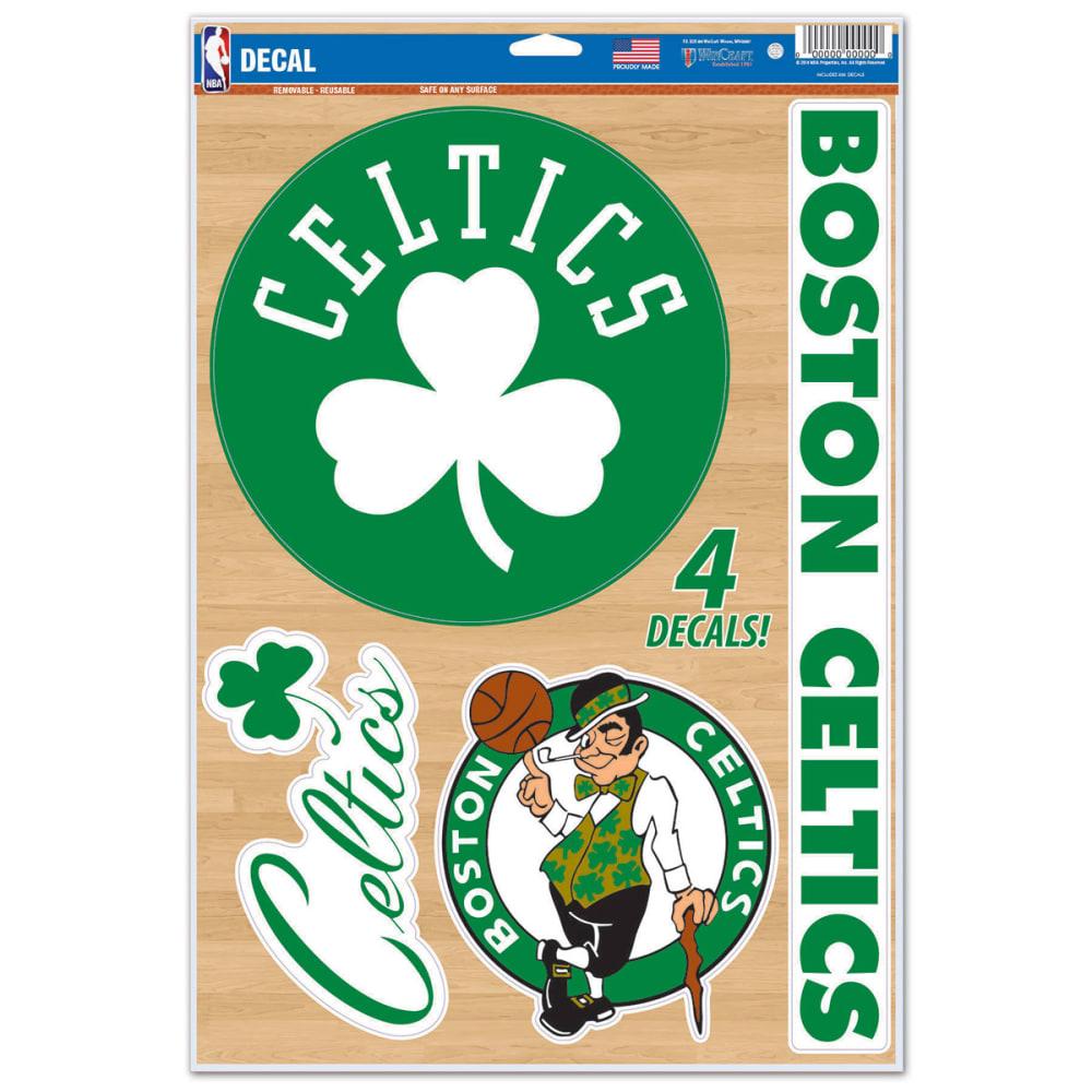 BOSTON CELTICS Multi-Use Decals, 4 Pack - GREEN