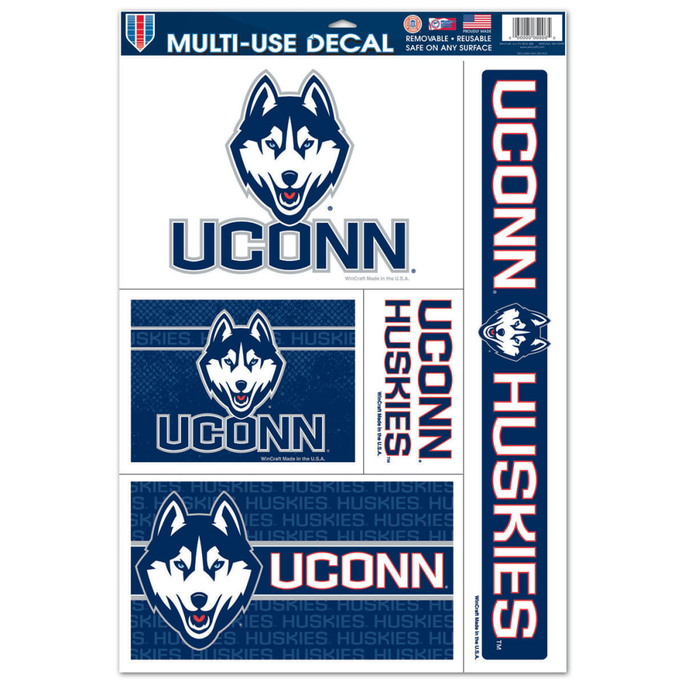 UCONN Multi-Use Decals, 4 Pack - NAVY