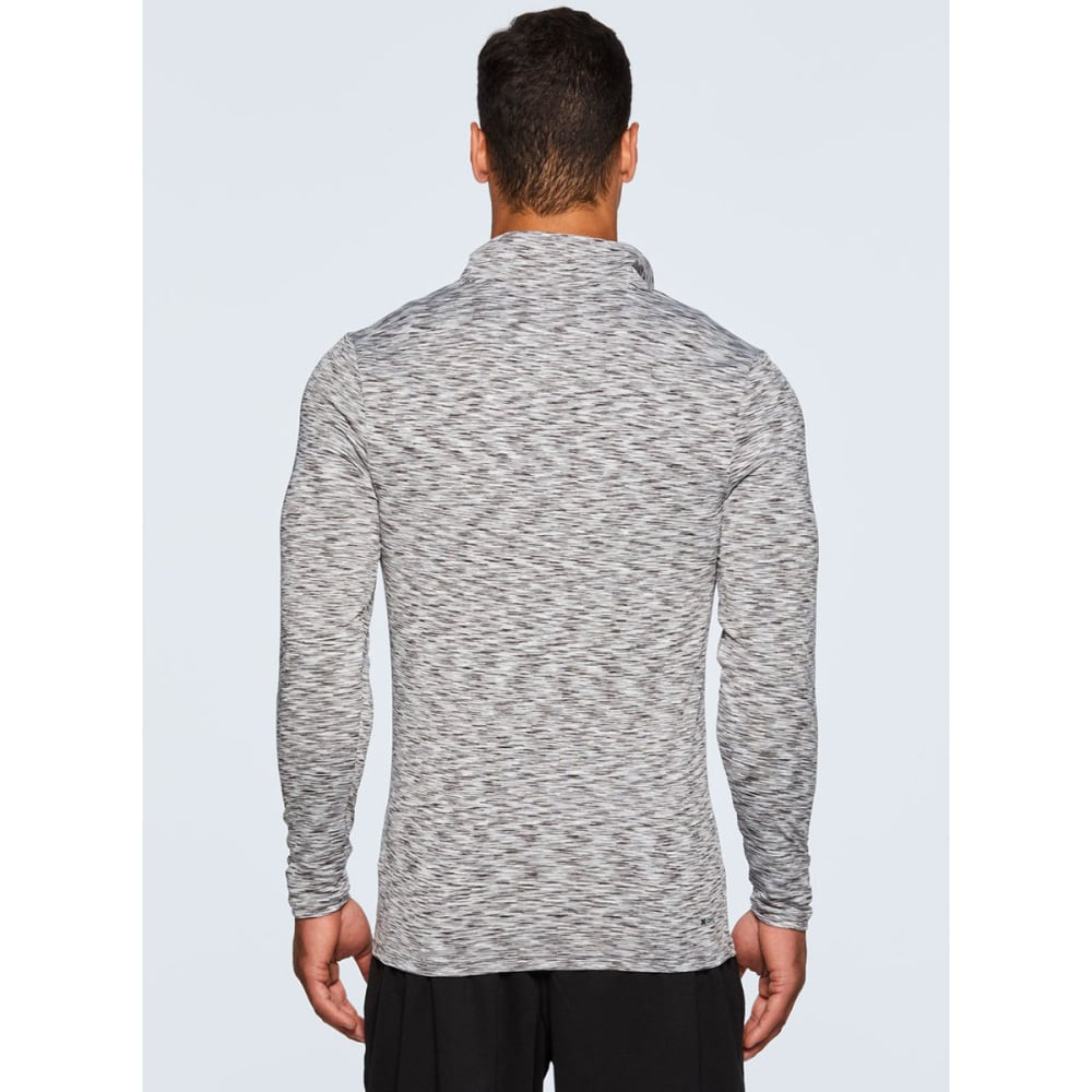 RBX Men's Stratus Fitted ¼-Zip Long-Sleeve Workout Shirt - GREY-A