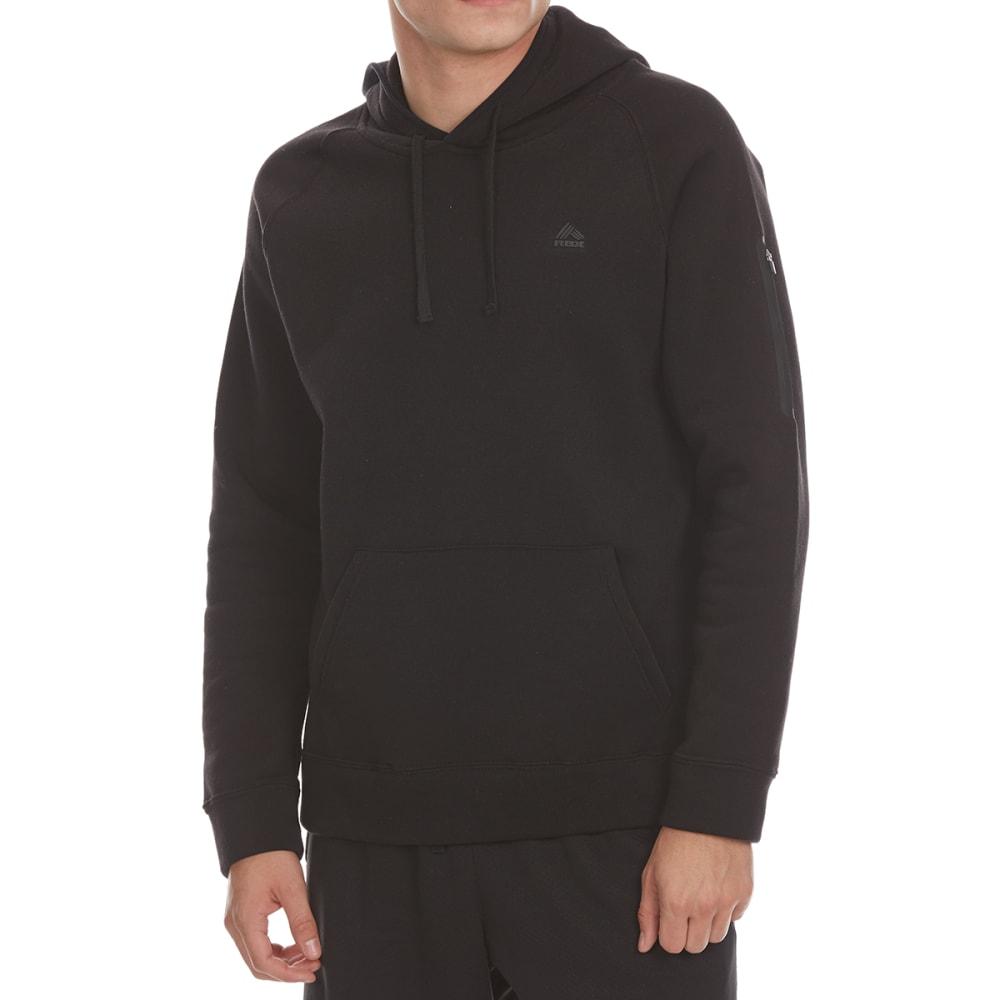 RBX Men's CVC Fleece Pullover Hoodie - BLACK-C