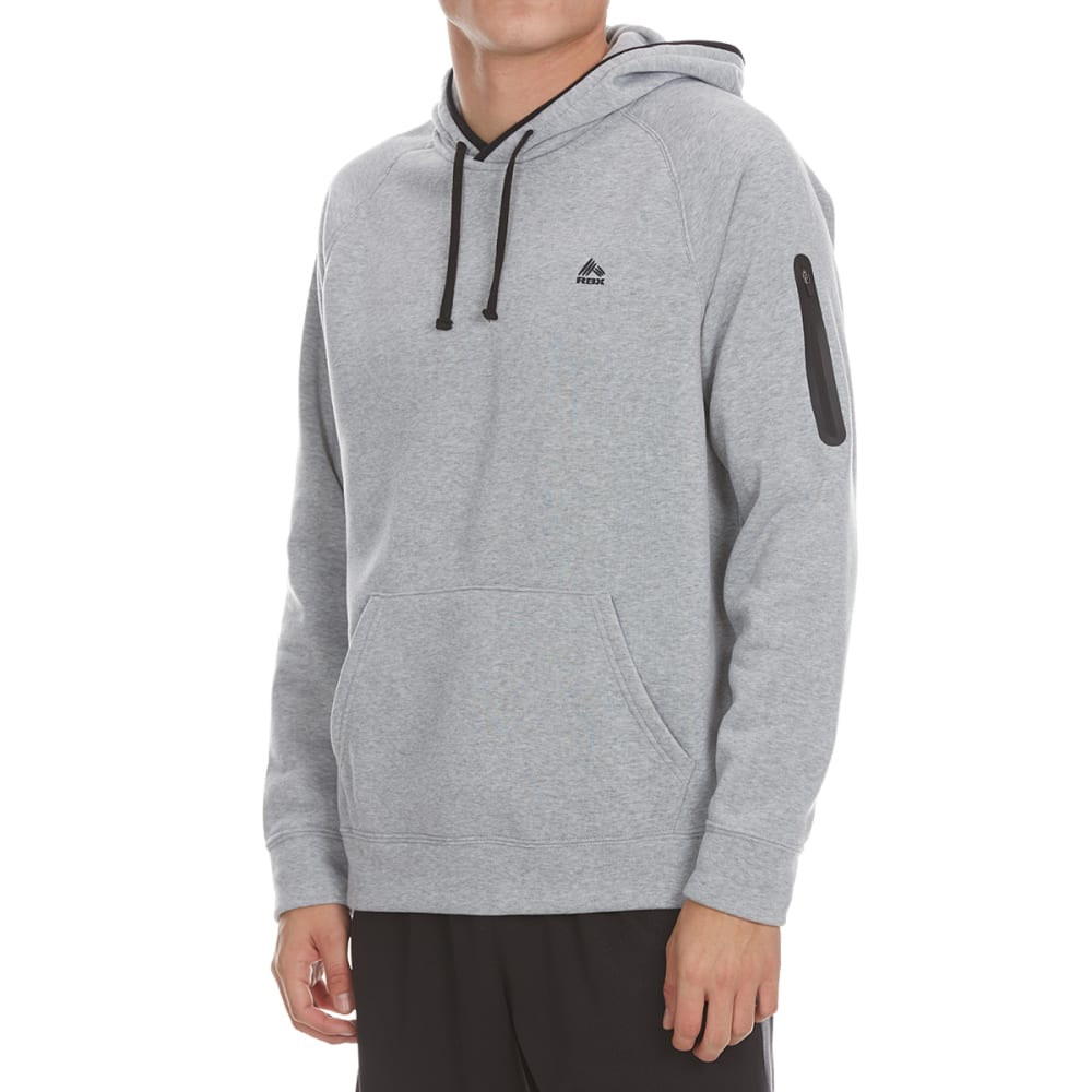 RBX Men's CVC Fleece Pullover Hoodie - GREY HTR-A