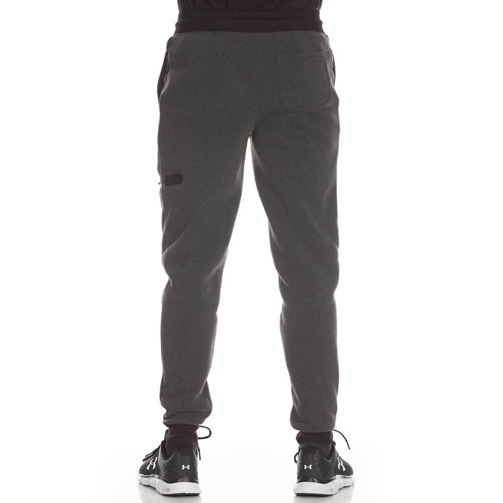 RBX Men's CVC Fleece Jogger Pants with Zippered Pocket - CHARCOAL HTR