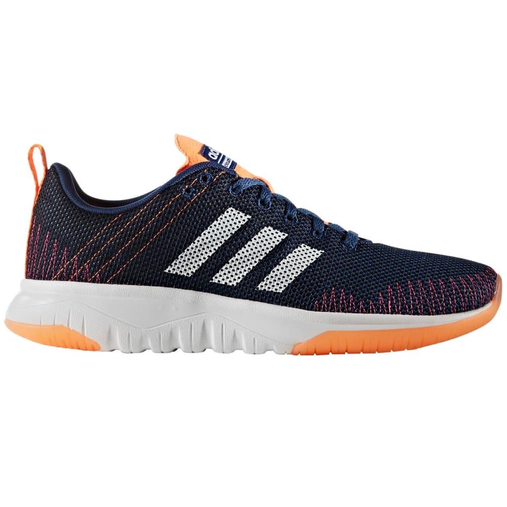 ADIDAS Women's Cloudfoam Super Flex Running Shoes, Blue/White/Glow Orange - NAVY