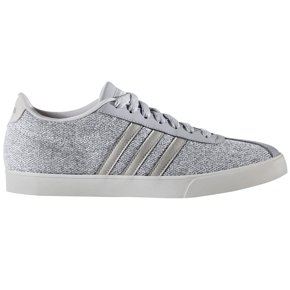 ADIDAS Women's Neo Courtset Sneakers, Onyx/Silver/White - GREY