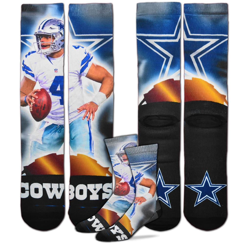 DALLAS COWBOYS Dak Prescott City Star Player Socks - NO COLOR