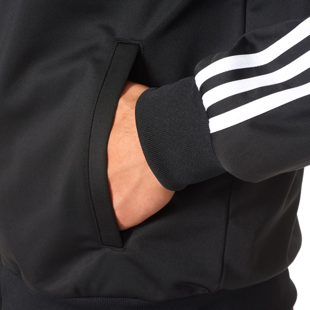 ADIDAS Men's Essentials 3-Stripe Track Jacket - BLACK/WHT-BR1024