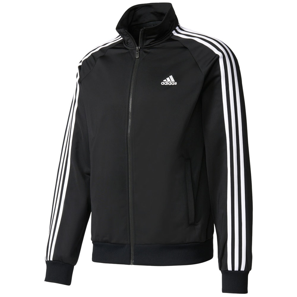 Adidas Men's Essentials 3-Stripe Track Jacket - Black, L