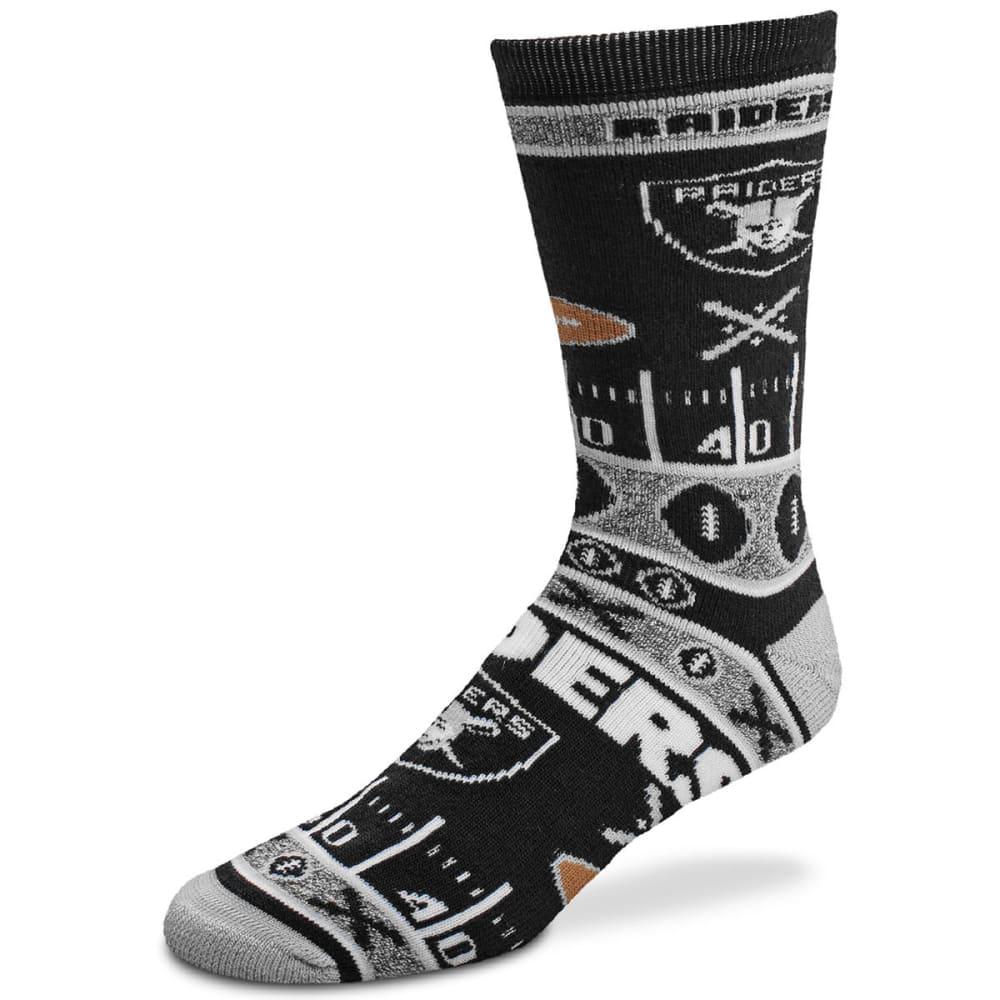 OAKLAND RAIDERS Super Fan Socks - BLACK