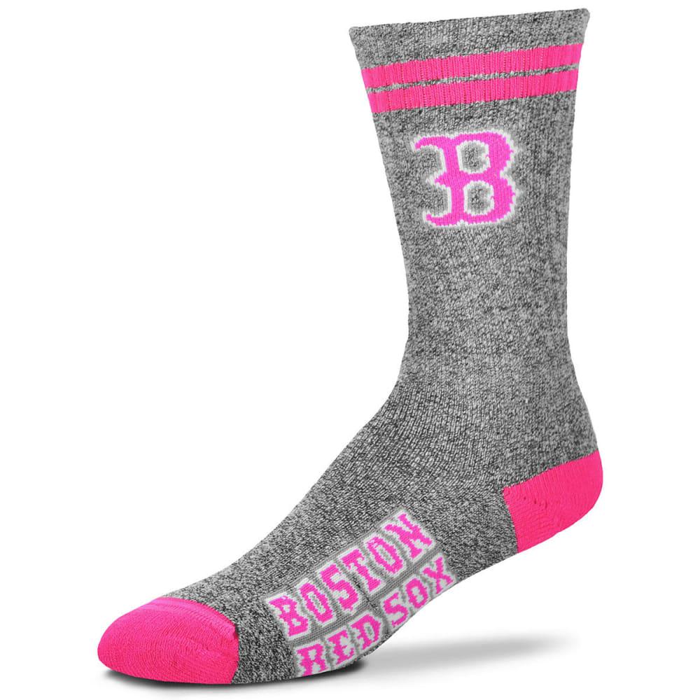 BOSTON RED SOX Melange Crew Socks - GREY