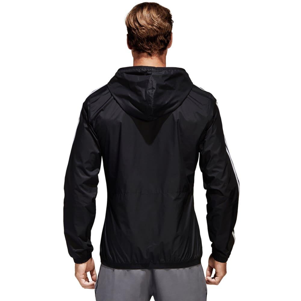 ADIDAS Men's Essentials 3-Stripes Wind Jacket - BLACK/WHT-BS2232