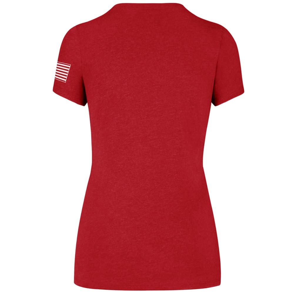 47 BRAND Women's Operation Hat Trick Two Peat '47 Club V-Neck Short-Sleeve Tee - RED