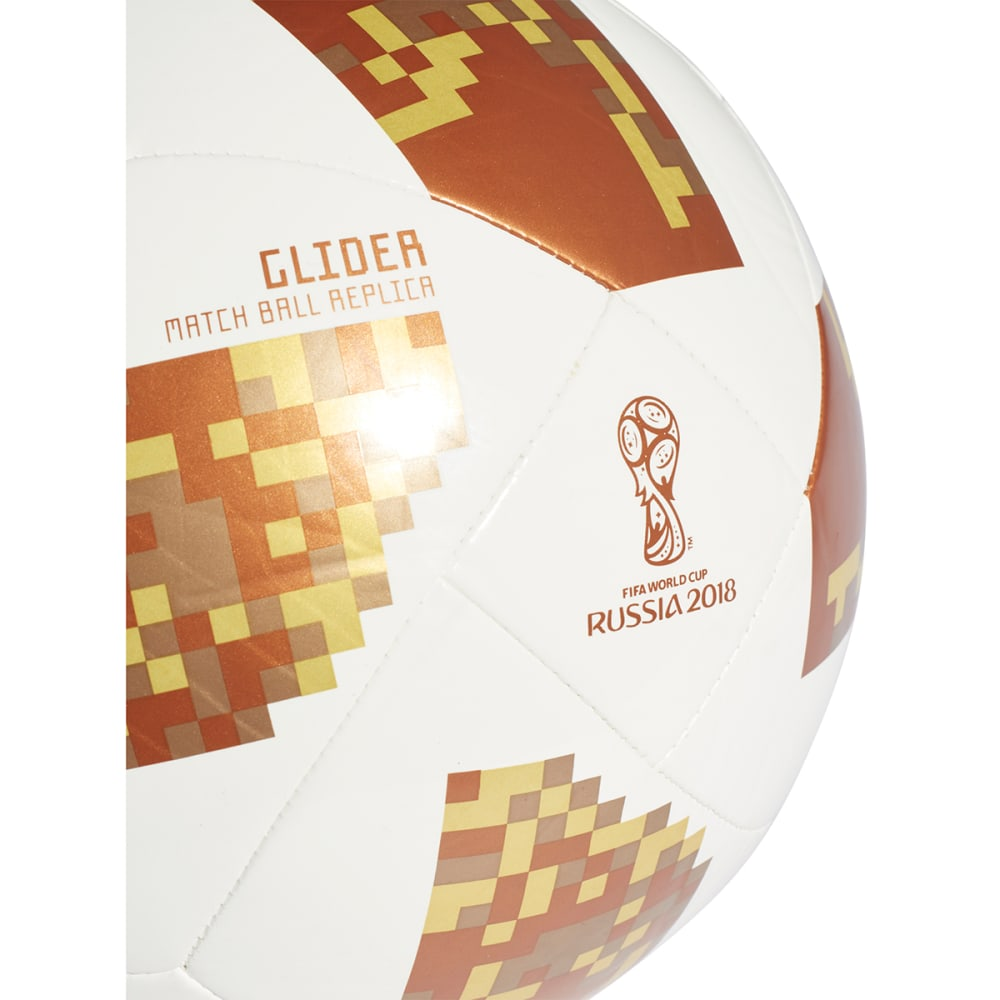 ADIDAS 2018 FIFA World Cup Glider Soccer Ball - WHITE/COPGOL/GOLDMT