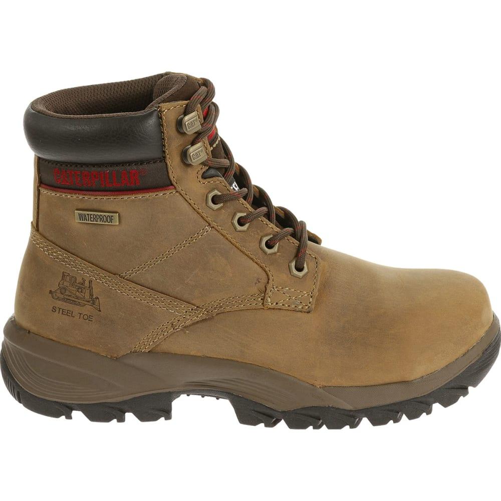 CATERPILLAR Women's 6 in. Dryverse Waterproof Steel Toe Work Boots, Dark Beige - DARKBEIGE