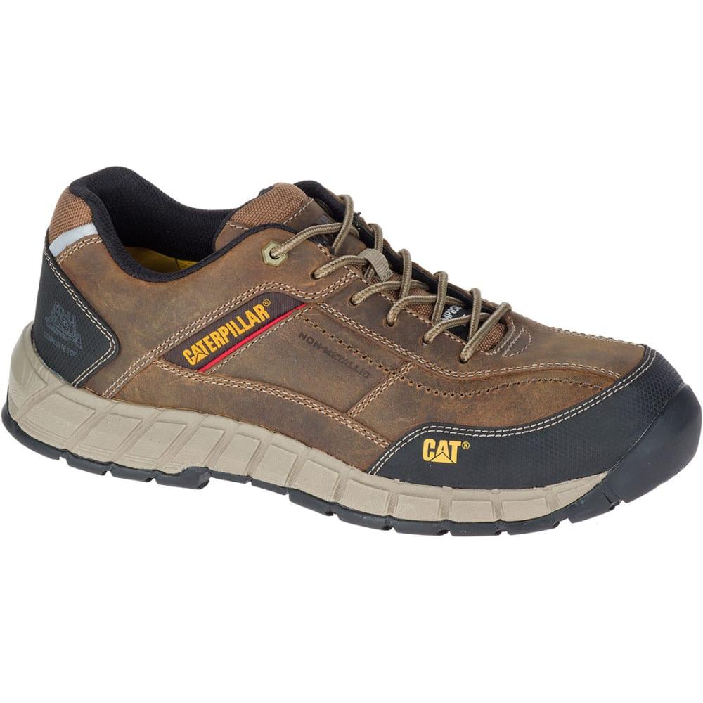 CATERPILLAR Men's Streamline Composite Toe Work Shoes, Dark Beige - DARK BEIGE