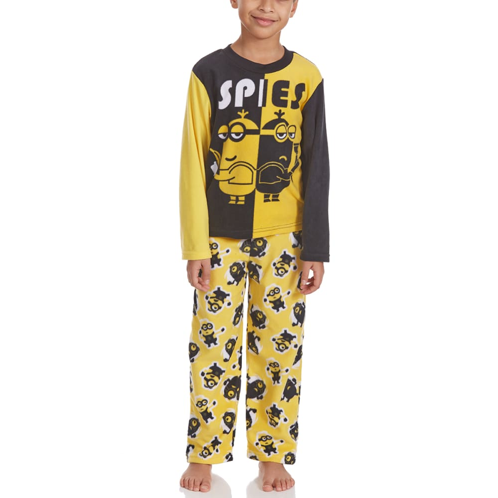 Ame Boys Two-Piece Minions Fleece Sleep Set - Various Patterns, 4