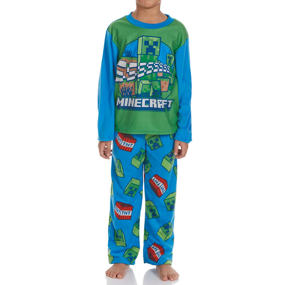 Ame Boys Two-Piece Minecraft Fleece Sleep Set - Various Patterns, 6