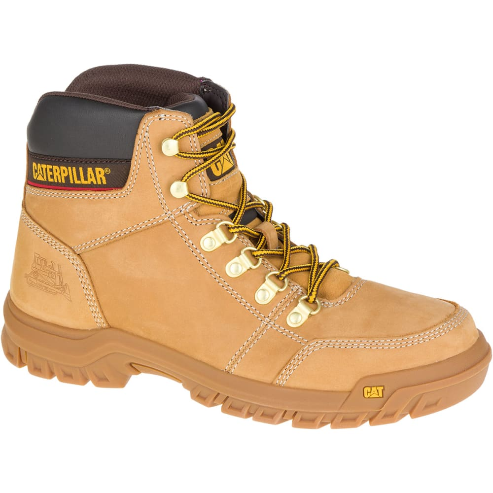 CATERPILLAR Men's 6 in. Outline Soft Toe Work Boots, Wheat - Brown, 10.5