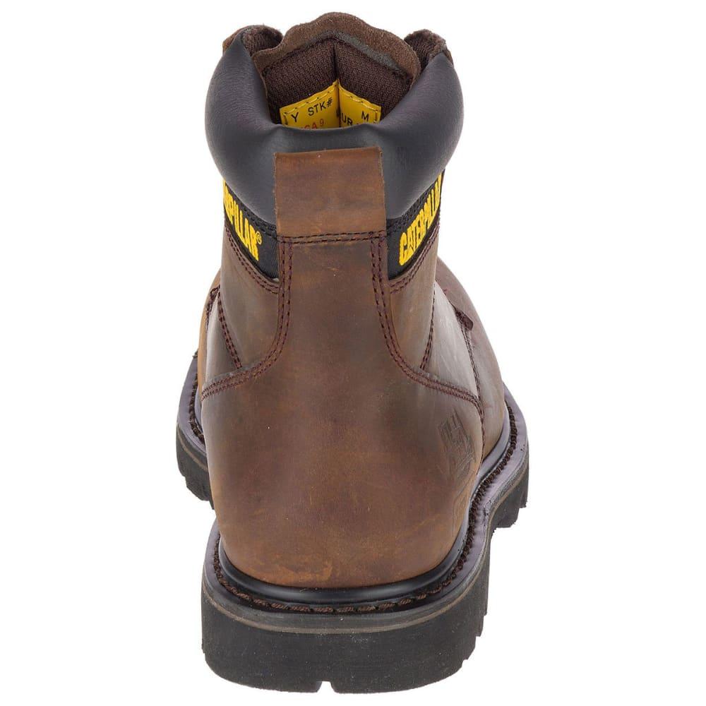 CATERPILLAR Men's 6 in. Second Shift Steel Toe Work Boots, Dark Brown - DARK BROWN