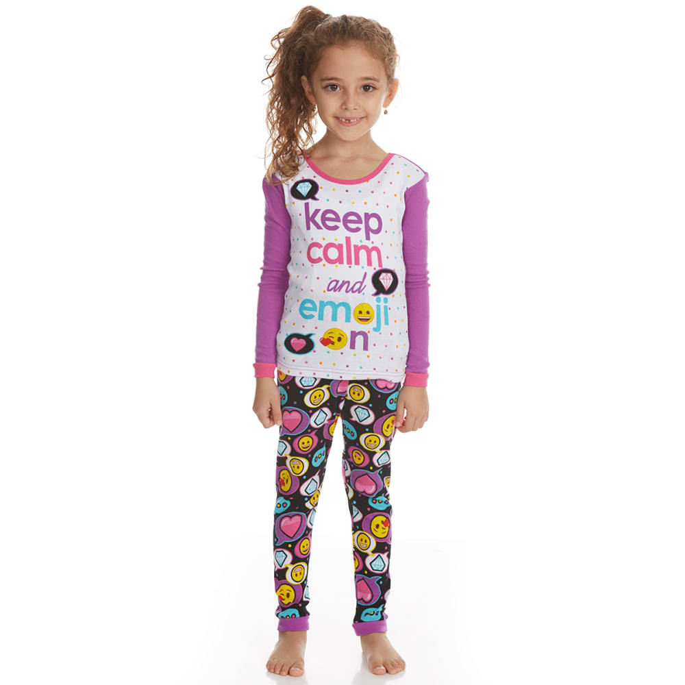 AME Girls' 3-Piece Emoji Sleep Set - ASSORTED