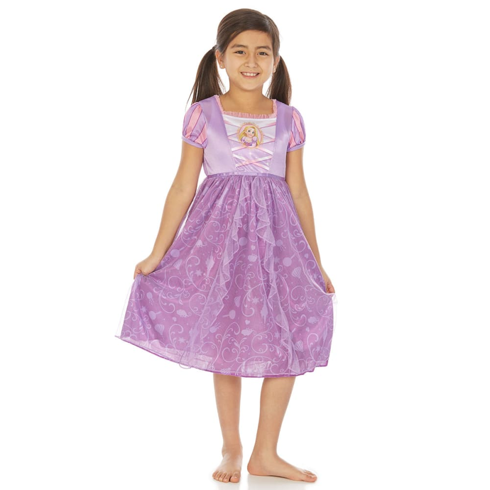 Ame Little Girls Tangled Rapunzel Nightgown - Various Patterns, 6